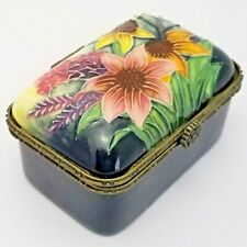 More details for old tupton ware hand painted flower trinket pot box