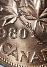 Canada 1980 Small Cent *Cocoon Variety* Gem BU UNC Red!!