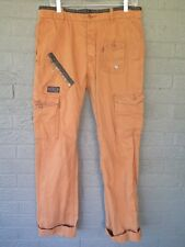 DIESEL CO CARGO CHINO PANTS IN MUTED RUST ORANGE COLOR SIZE 3O