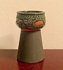 DDR Keramik VEB Strehla Vase Form 3343(?) rot red green East German Pottery GDR