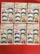 30 Pairs Long Cross False Eyelashes Makeup Natural Thick Black Eye Lashes US