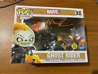 Nicolas Cage Signed Marvel GITD PX Preview Ghost Rider 33 Funko Pop- BAS E59073
