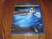 Cinderella; Live Action Disney(Blu-ray/DVD + Digital HD 2015) New+ I Ship Faster