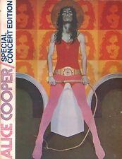 ALICE COOPER 1973 BILLION DOLLAR BABIES TOUR PROGRAM BOOK / POSTER ATTACHED