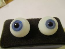 22 mm Blue  Handblown Glass Eyes 11 mm  Iris  G26