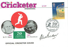 Alec BEDSER Signed Autograph Cricket First Day Cover FDC COA AFTAL