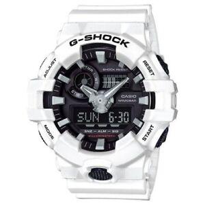 Casio G-Shock White Analogue/Digital Mens Sports Watch GA700-7A GA-700-7ADR