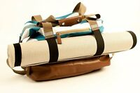 Large Yoga Laptop Messenger Bag Travel Yoga Gym RARE XL   W/ Shoe Compartment