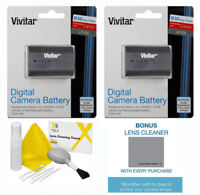 2 PACK LP-E6 BATTERY FOR CANON FOR REBEL R MIRRORLESS CAMERA + PRO CLEANING KIT