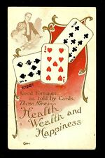 Fortune Telling Playing Card postcard Lounsbury 1907 #2037-5 Nine of suits