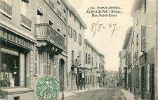 Carte FONTAINES SUR SAONE Rue Saint Louis
