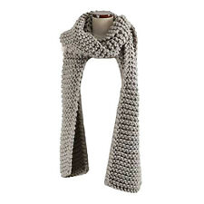 Women Men Soft Thick Warmer Winter Warm Knit Crochet Collar Shawl Wrap Scarf New