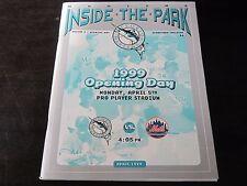 Florida Marlins Magazine 1999 opening day Program vs New York Mets Cliff Floyd