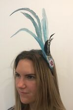 Quality Native American Indian Squaw Costume Feather war bonnet Headdress 1sz #B