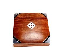 Handmade Wooden Rosewood Box with 5 DICES dans game storage box Design 8