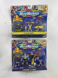 Mighty Morphin Power Rangers Micro Machines #3 Megazord Vs. Squatt & #4 Yellow