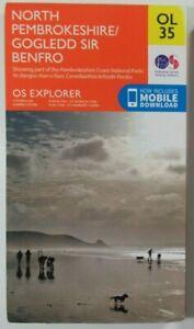 "2015 OS Ordnance Survey 1:25000 2.5"" Explorer Map OL35 North Pembrokeshire"