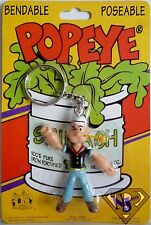 """POPEYE THE SAILOR MAN 3"""" inch Poseable Bendable Key Chain Figure 1993"""