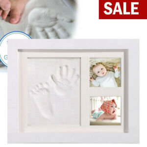 New Baby Hand Foot Print Frame Kit Soft Imprint Clay for Moulding with a Premium