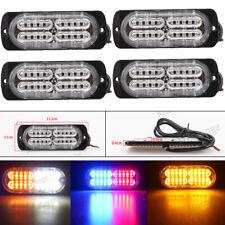 4x 4 6 12 20 LED Car Van Strobe Flashing Emergency Warning Light Bar Beacon Lamp