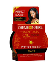 Creme of Nature Argan Oil Perfect Edges Control Hair Gel-2.25 oz Black