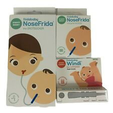 Fridababy Kit with NoseFrida Snotsucker, 20 Extra Hygiene Filters, 1 Windi Lot