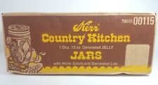 Vintage Kerr Country Kitchen 12 oz Jelly Jars Mason Canning Case Decorative NOS
