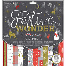 Dovecraft 12x12 Paper Pad - Festive Wonder - Scrapbooking Cards