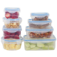 16 Pcs. Plastic Food Storage Containers Set With Air Tight Locking Lids