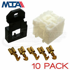 MTA MINI RELAY BASE/HOLDER - 4 & 5 PIN RELAY KIT - MADE IN ITALY - 10 PACK