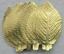 14 Large, Gold Paper Leaves, Wedding, Cake Decorating, Sugarcraft, Topper