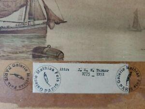 J. M. W. Turner Original Vintage 2 Watercolours Paintings Not A print.