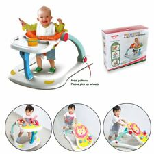 Baby Walker Push 4 In 1 Multi Function Music PLay&Feed Station With Light UK