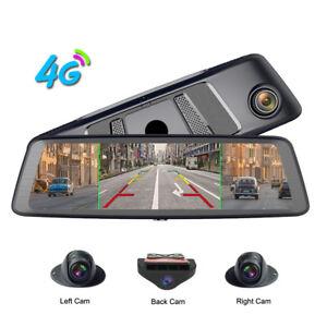 360-degree panoramic 4CH Cameras lens car dvr backup mirror dash camera with gps