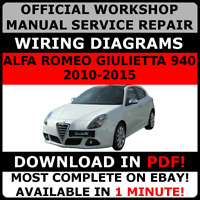 ITALIAN OFFICIAL WORKSHOP Repair MANUAL ALFA ROMEO GIULIETTA 940 2010-2015