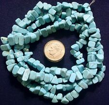 34 in reconstituted stabilized chalk Turquoise chip beads with matrix bs334