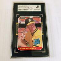 1985 DONRUSS Mark McGwire Rookie Card  #46 SGC 92 Beautiful - NM/MINT