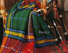 SCOTTISH TARTAN RUG 'Baxter' AFGHAN CROCHET PATTERN in 8ply WOOL