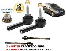 FOR CHRYSLER GRAND VOYAGER 2000-> 2x OUTER & 2x INNER TRACK TIE RACK ROD END SET