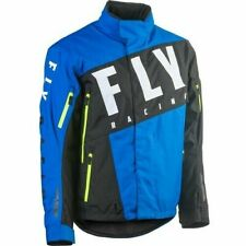 Fly Racing SNX Pro Snowmobile Jacket 2XLarge Blue Black Hivis