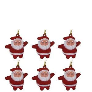 6/12/18/24Christmas - Tree Decoration - Hanging Mini Santa Claus