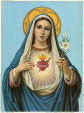 Sacred Heart of Mary Art Poster Print, 8x10