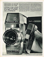 PUBLICITE ADVERTISING 044  1963  BELL & HOWELL  auto load  OPTRONIC EYE  caméra