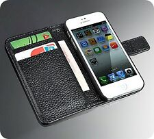 iPhone 6 6S+Plus 5C Genuine Real Cow Leather Wallet Flip Strap Case Card Cover
