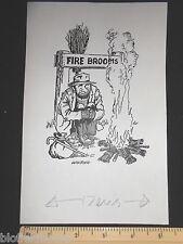 ORIGINALE IVAN Wilding Vagabondo col fuoco Scope Cartoon artista dei fumetti cartolina ()