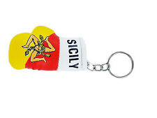 mini boxing gloves keychain keyring key chain ring NEW leather Flag SICILY ITALY