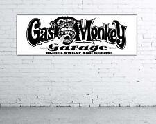 Lona PVC,banner para taller,club o tienda Gas Monkey 150cm x 50cm nº21