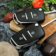 Flip  Keys Shell refit for PEUGEOT 207 107 407 308 307 607 Remote Key Case 2 BTN