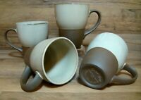 SET OF 4 - SANGO - CANYON SAGE - 12 OZ.COFFEE MUGS - EARTH TONE STONEWARE # 6005