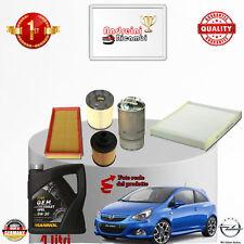 Filtres Kit D'Entretien + Huile Opel Corsa D 1.3 CDTI 55KW 75CV à partir de 2011